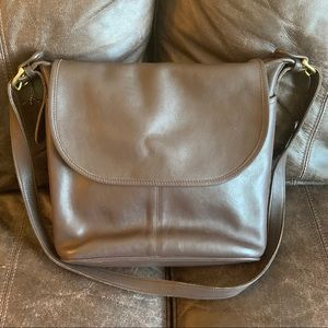 Vintage Brown Coach Leather Whitney Crossbody Bag